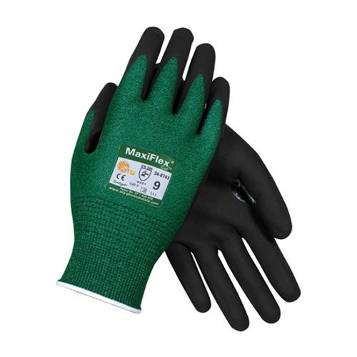 MaxiFlex 34-8743 Knit Yarn Glove with Nitrile Micro-Foam Grip