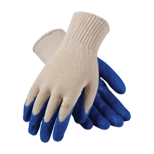 PIP 39-C122/L Knit Cotton/Polyester Glove Latex Smooth Grip