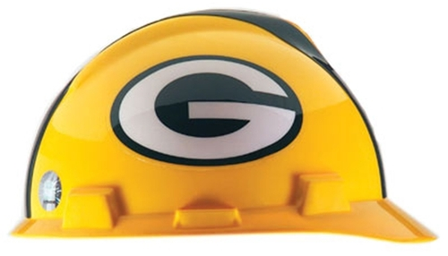 MSA 818395 NFL V-Gard Green Bay Packers Hard Hat