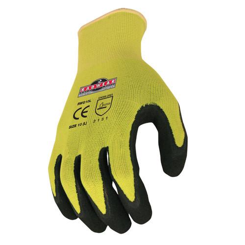 Radians RWG10 Safety Gloves Silver Series Hi-Viz Knit Dip