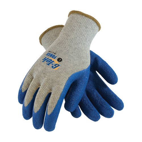 PIP 39-C1300 Seamless Cotton Gloves with Latex Coated Crinkle Grip