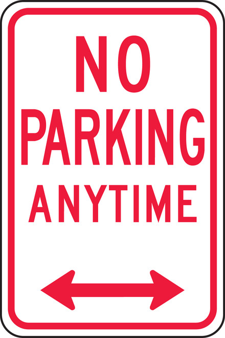 Accuform FRP717RA Reflective Aluminum Traffic Sign: No Parking Anytime