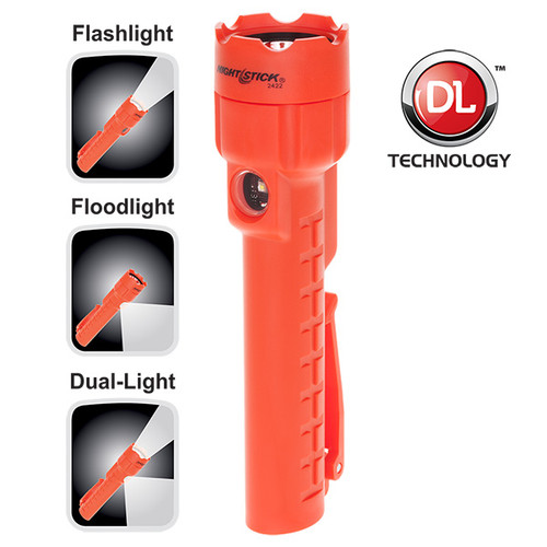 Bayco NSP-2422R Dual-Light Red Flashlight with Dual Magnets