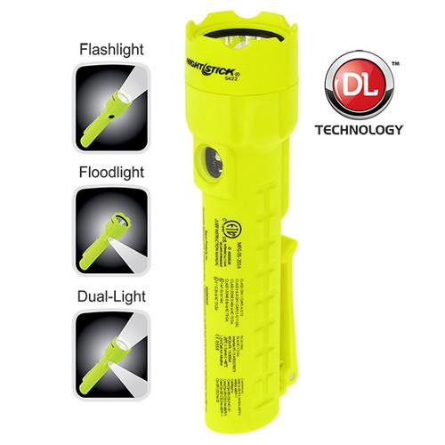Bayco XPP-5422G Intrinsical Safe Permissible Dual-Light Flashlight