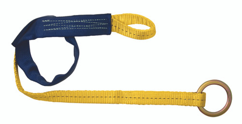 FallTech Concrete Web Embed Anchor with Jacketed Loop and O-ring.