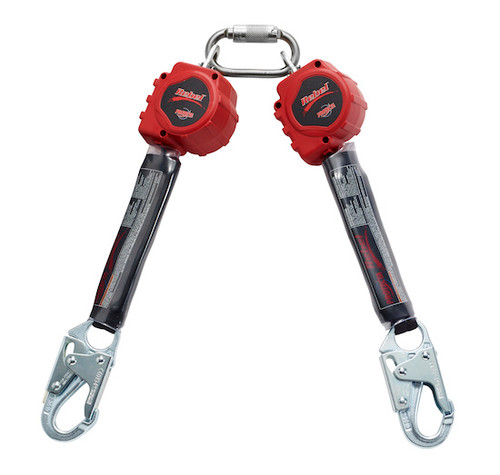 Protecta 3100412 Twin-Leg Retractable with 6' Web and Steel Snap Hooks