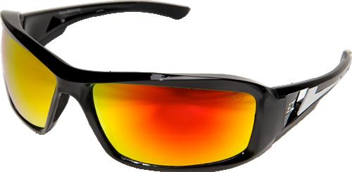 Edge Eyewear XBAP119 Brazeau Safety Glasses Red Mirror Lens