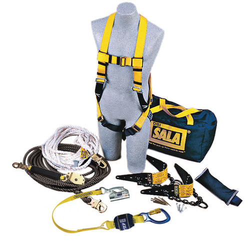 DBI SALA 7611904 Roofer's Fall Protection Kit - HLL System 50 ft