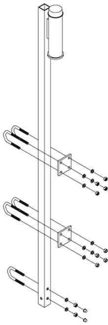 DBI SALA 6116280 Lad-Saf Top Bracket for Fixed Ladder