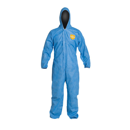 Dupont PB127SB Blue Basic Coverall Respiratory-Fit Suit (25/Case)
