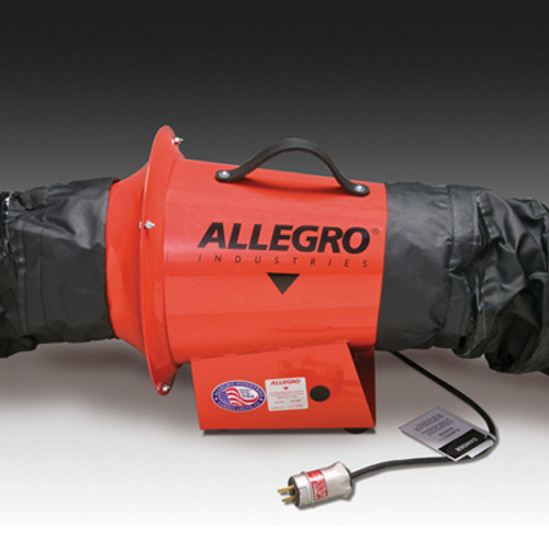 Allegro 9513-05I AC Axial Explosion Proof Inline Booster Blower 8""