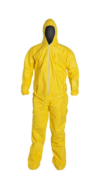 Dupont QC122S Coverall with Hood and Shoe Covers Attached (12/Case)
