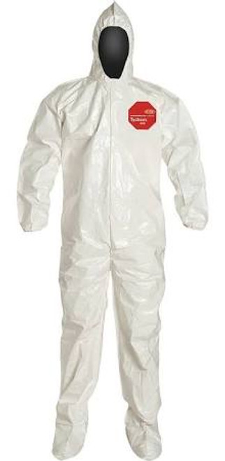 Dupont SL122B SL Coverall with Storm Flap Covers Zipper (12/Case)