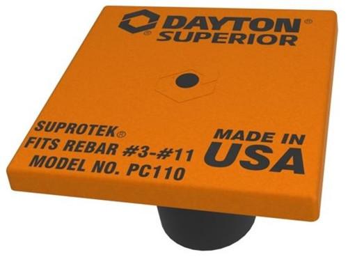 Dayton Superior PC110 Rebar Cap Fits Sizes #3 - #11 (500 Pack)