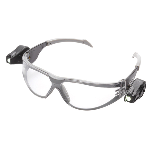 3M 11356 Safety Glasses with Attached LED Lights