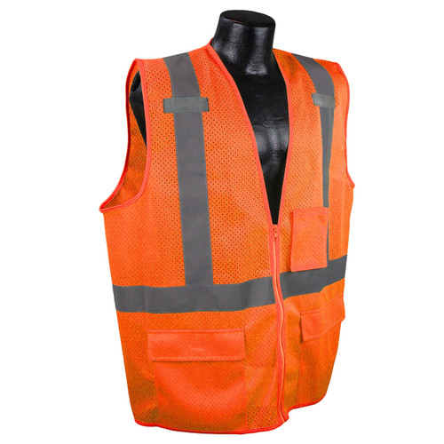 Radians SV27-2ZOM Multipurpose Surveyor Class 2 Safety Orange Vest