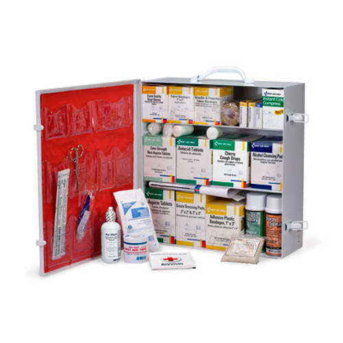 First Aid Only 247-O/P 3 Shelf Industrial Station 100+ Person