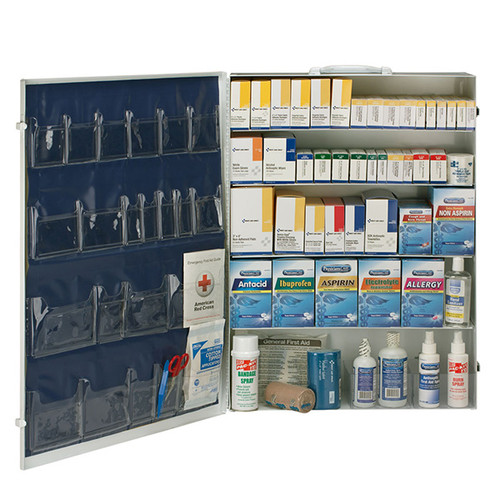 First Aid Only 90577 ANSI 5 Shelf First Aid Station with Medications