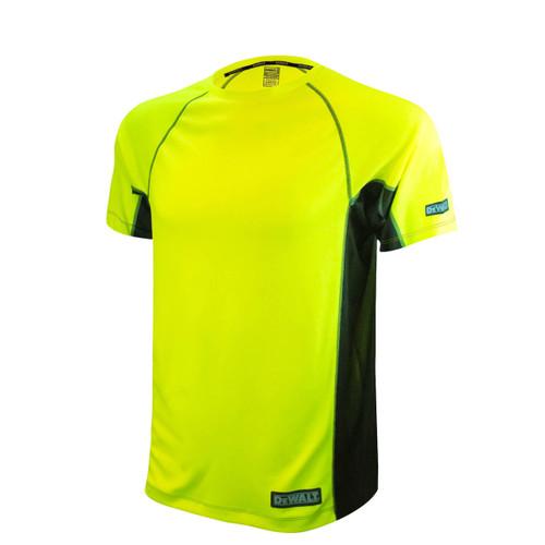 Radians DST11-NPGB Short Sleeve Performance T-Shirt HiViz Lime