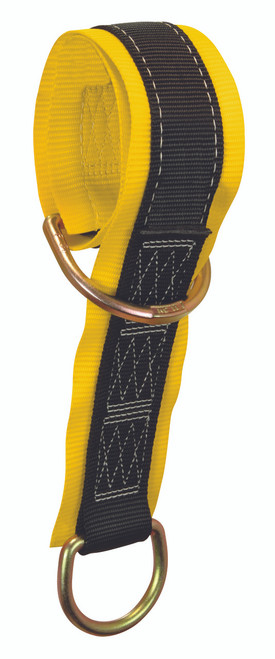 "Falltech Web Pass-through Anchor Sling with 2 D-rings and 3"" Wear Pad."