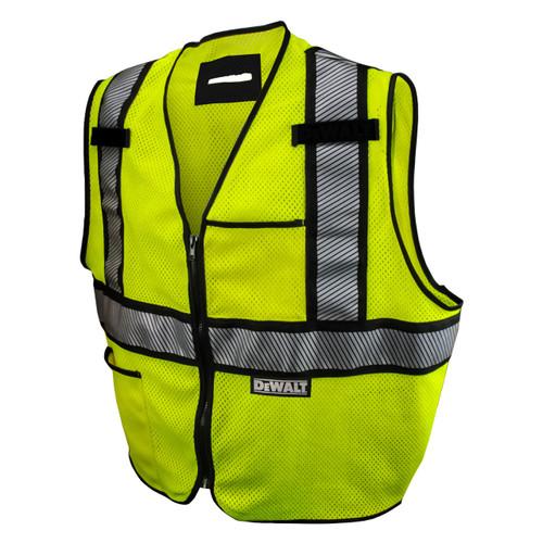 DeWalt DSV971 Class 2 Modacrylic FR Mesh Vest Lime Vest