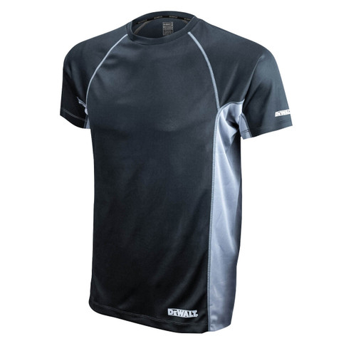 DeWalt DST11-NPBB Non-Rated Two Tone Performance T-Shirt  Black