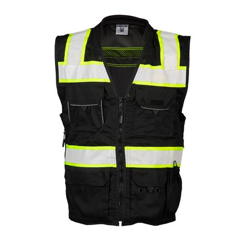 ML Kishigo B500 Black Enhanced Visibility Professional Utility Vest