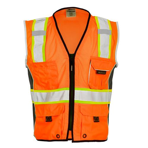 ML Kishigo 1514 Heavy Duty Orange Safety Vest Style Class 2