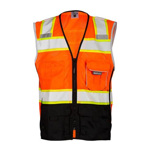 ML Kishigo 1516 Black Bottom Orange Safety Vest Style Class 2