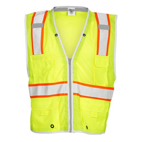 ML Kishigo 1510 Class 2 Heavy Duty Lime Safety Vest