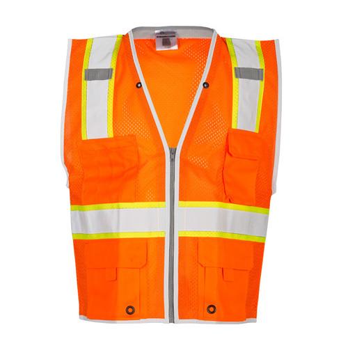 ML Kishigo 1511 Class 2 Heavy Duty Orange Safety Vest