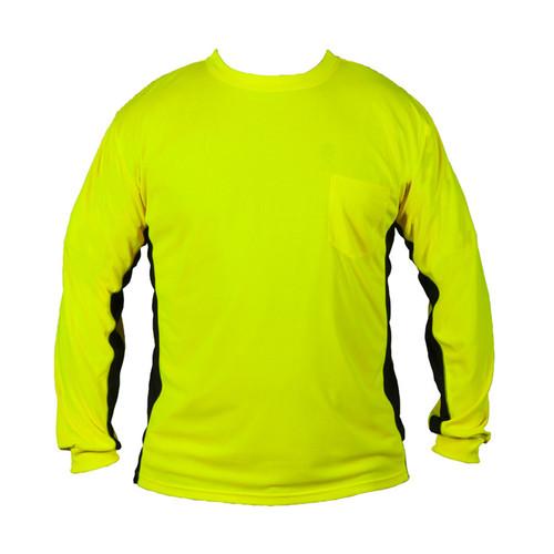ML Kishigo 9202 Lime Premium Black Series Long Sleeve Hi Viz T-Shirt
