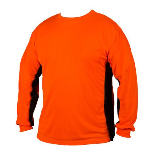 ML Kishigo 9203 Orange Premium Black Series Long Sleeve Hi Viz T-Shirt