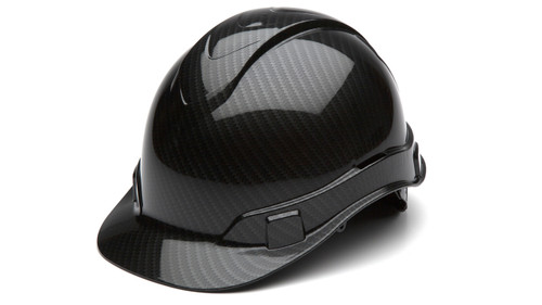 Pyramex HP44117S Shiny Black Graphite Hard Hat Cap Style with Ratchet