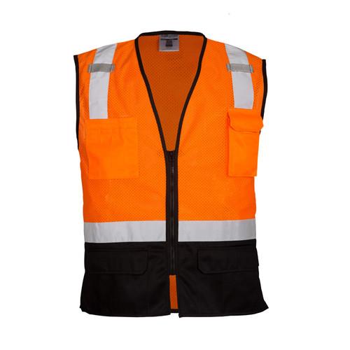 ML Kishigo 1529 Class 2 Orange Black Bottom Mesh Vest