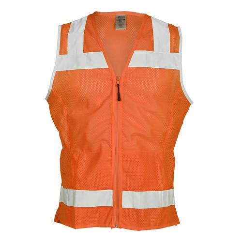 ML Kishigo  Orange Ladies Mesh Vest