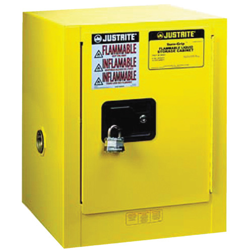 Justrite 890400 Sure-Grip EX Flammable Safety Cabinet 4 Gal