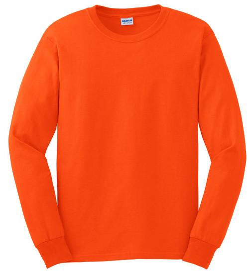 Gildan G2400O Orange Mens Classic Long Sleeve T-Shirt