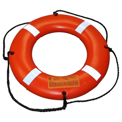 Stearns I024ORG-00-000 Type IV 24' Ring Buoy with Reflective Stripes