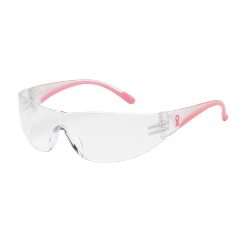 PIP Eva Rimless Safety Glasses with Clear Lens / Pink Temple (Dozen)