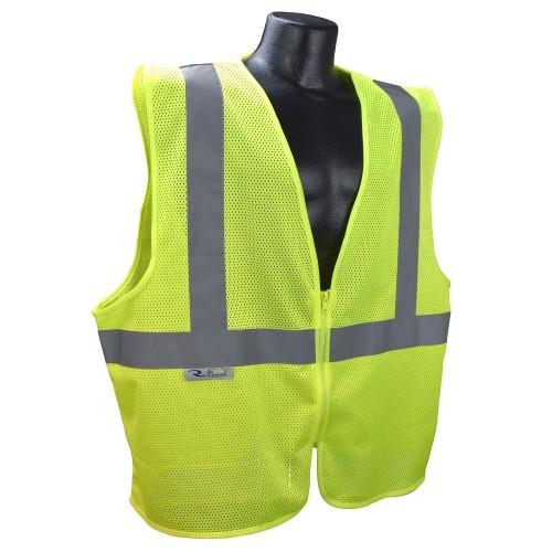 Radians SR-EGM-R2 HiVis Lime Safety Vest with Zipper Closure