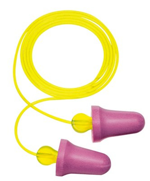 3M No-Touch Push-to-Fit Earplugs P2001, Corded, 100 Pair/Case
