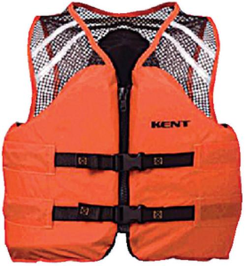 Kent 150600-200 Mesh Classic Commercial Orange Life Vest