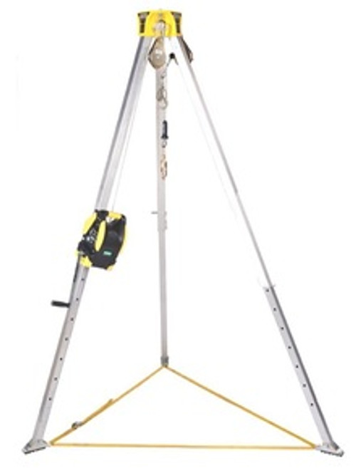 MSA Workman 8' Aluminum Complete Tripod Kit with 65' Winch