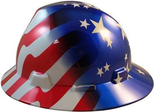 MSA 10071157 American Freedom Series V-Gard Full Brim Hard Hat