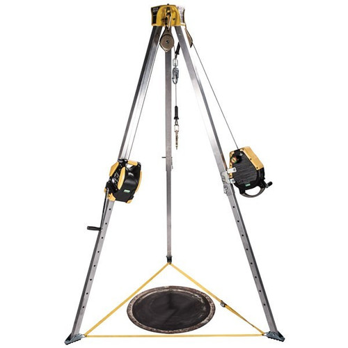 MSA 10163033 Workman Tripod Kit with SS 50' Rescuer and 65' Winch