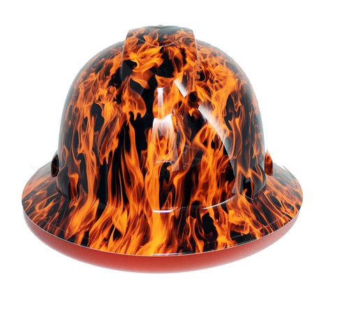 Pyramex HP541-WFO Wicked Flames Hi-Vis Orange Full Brim Hard Hat