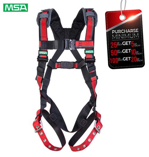 MSA 10167972 EVOTECH Lite Harness, Back D-Ring, Tongue Buckle leg straps, Standard (STD)