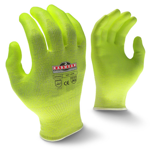 Radians RWG531 Silver Series Hi-Vis Cut Level A2 Grip Glove (Dozen)