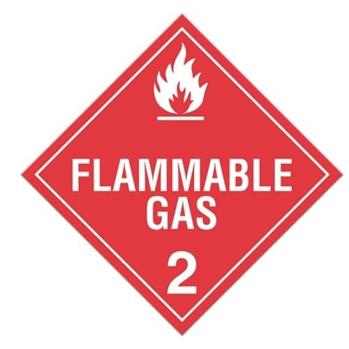 "GHS Safety TA210SS 10.75"" x 10.75"" Rigid Plastic Sign: ""Flammable Gas 2"""